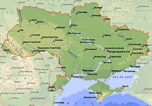ukrajina mapa Ukrajina, mapa na vlasta.org ukrajina mapa